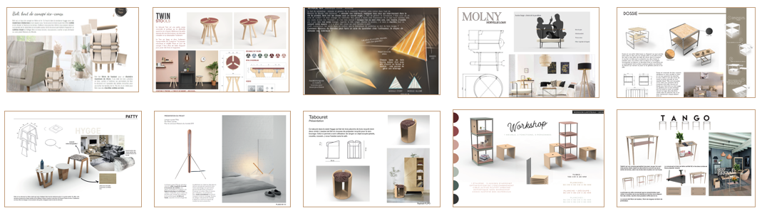 Student projects for the 2019 Maisons de Monde Sustainable Creation Awards